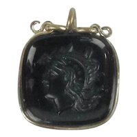 Intaglio Watch Fob Gold Filled Carnelian