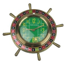 Phinney-Walker German Roulette Wheel Alarm Clock