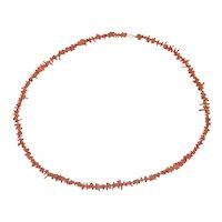 """Vintage Coral Branch Necklace 31"""""""