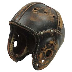 Vintage 1930's Leather Football Helmet