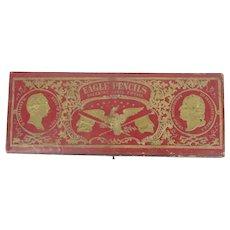 Antique Eagle Pencils Pencil Box Pat Date 1860