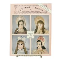 """Costume Cameos 4, Bonnet Patterns For 22"""" & 24"""" Dolls By Ulseth & Shannon"""