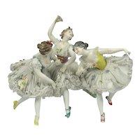 Rare Dressel And Kister German Porcelain & Lace Ballerina Figure