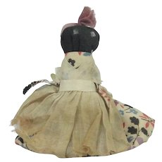 Vintage Black Cloth Rag Doll With Bruce Bell