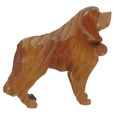 Hand Carved St Bernard Rescue Dog With Cask