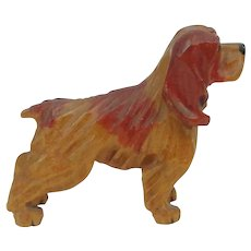 Hand Carved Wood Dog Cocker Spaniel