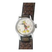 Vintage Ingersoll Walt Disney Productions Mickey Mouse Mechanical Wrist Watch 1970's