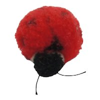 Steiff Wool Pompom Lady Bug