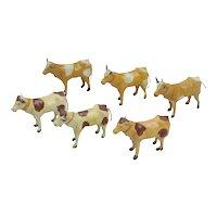 8 German Composition And Stick Leg Cows Putz