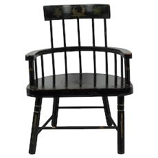 Windsor Paint Decorated Comb Back Style Doll Chair
