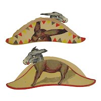 1912 Presidential Democratic Convention Donkey Paper Hats