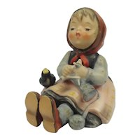 """Vintage Hummel Sitting Girl With Song Bird """"Happy Pastime"""" #69 TM3"""