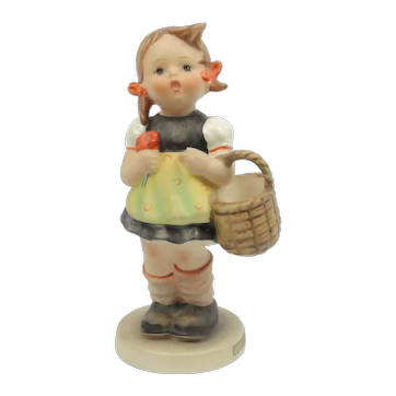 "Vintage Hummel Girl With Basket ""Sister"" #98/0 5 "" TM3"