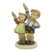 """Vintage Hummel Boy And Girl Waving Goodbye """"Auf Weidersehen"""" #153/0 5 1/4"""" TM3"""