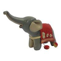 Vintage 1960's Stuffed Leather Tomi Mid Century Modern Elephant