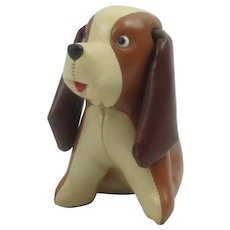 "Vintage 1960's Stuffed Leather ""Tommy"" Mid Century Modern Dog"
