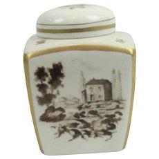 French Porcelain Lidded Tea Spice Or Ginger Jar NAST