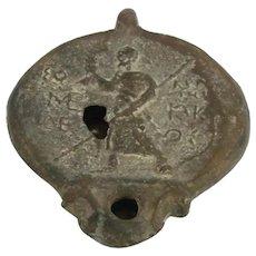 Antique Roman Terra Cotta Oil Lamp