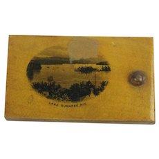 Antique Mauchline Ware Sliding Dovetailed Lid Box