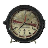 Vintage Chelsea WWII 8 Day Radio Room Clock US Maritime Commission #AA2FJ