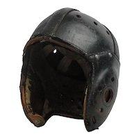 Vintage 1930's Leather Football Helmet