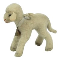"Steiff ""Lamby"" Lamb With Bell & Tag"