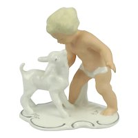 Wallendorf Schaubach & Kunst Porcelain Boy With Goat