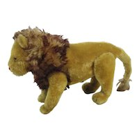 Vintage Steiff Mohair Lion Jointed With Squeaker