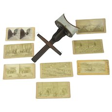Antique Triumph Stereoscope With 8 Views