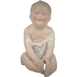 "Antique Gebruder Heubach All Bisque  Piano Baby Figure 8"""