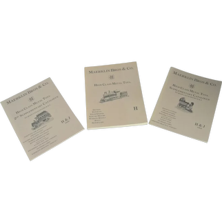 Maerklin Bros High Class Metal Toy Book H And Supplementary Catalogs  3 Books Reprints 1904,1905,1906