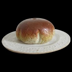 Doll House Loaf Of Bread On Paper Plate - Signed Germany