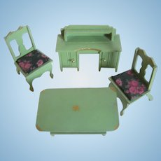 Miniature 4 Piece Doll House Furniture - Cottage Kitchen Set - Germany