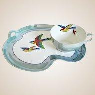 Beautiful Noritake Art Deco Luster Tea Cup & Plate