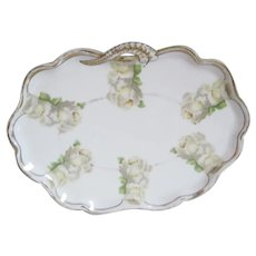 Rosenthal Vanity Tray - Madeleine - White & Yellow Roses