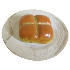 Doll House Loaf Of Bread On Paper Plate Miniature