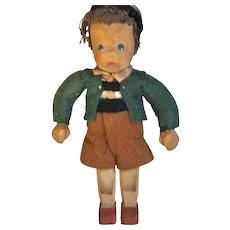 Adorable Carved Wood Doll / Figure Regional Costume
