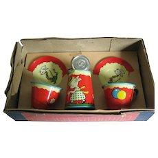 Child's Tin Tea Set By Ohio Art - Bunnies