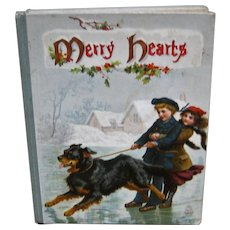 """Fabulous Ernest Nister Book """"Merry Hearts"""" - Wonderful Illustrations ca 1900"""