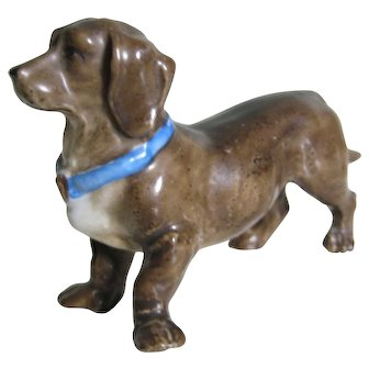Miniature Dachshund Dog For Doll House - Great Detail