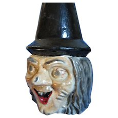 Scary Halloween Plaster Bust Of Ugly Witch
