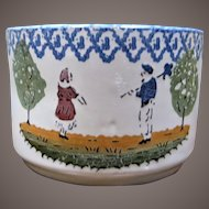 French Faience Large Mug / Bowl With Handle - France