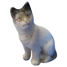 Vintage Miniature Bisque Cat For  Doll House