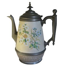 Vintage Graniteware Enamel Coffee Pot
