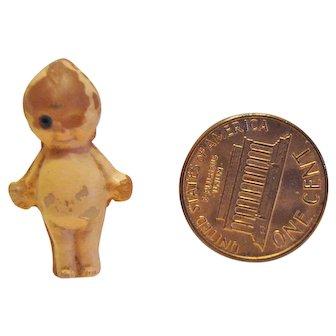 Tiny Camphor Glass Kewpie W/ Trademark
