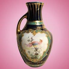 Exquisite Miniature Heubach Vase / Ewer For Dollhouse