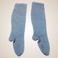 Beautiful Vintage BLUE French Doll Socks / Stockings