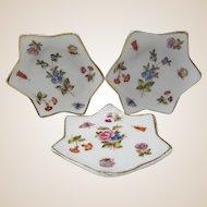 Set Of 5 Schumann Star Shape Floral Butter Pats