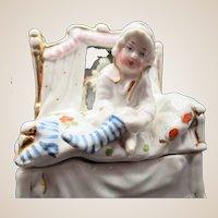 Adorable Conte Boehm Fairing Box - Girl In Striped Stockings