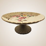 Aesthetic Transferware Cake Stand / Compote